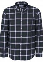 Carhartt WIP Hemden langarm Lamont Shirt lamontcheck-laurel Vorderansicht