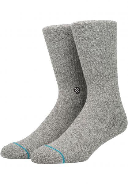 Stance Socken Icon greyheather Vorderansicht 0630742