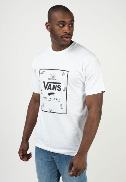 Vans T-Shirts Print Box white-beachditsy vorderansicht 0397887