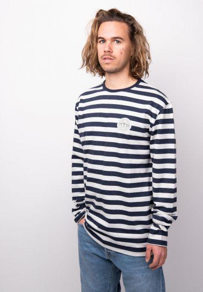 TITUS Hemden langarm Jonson navy-striped vorderansicht 0411790