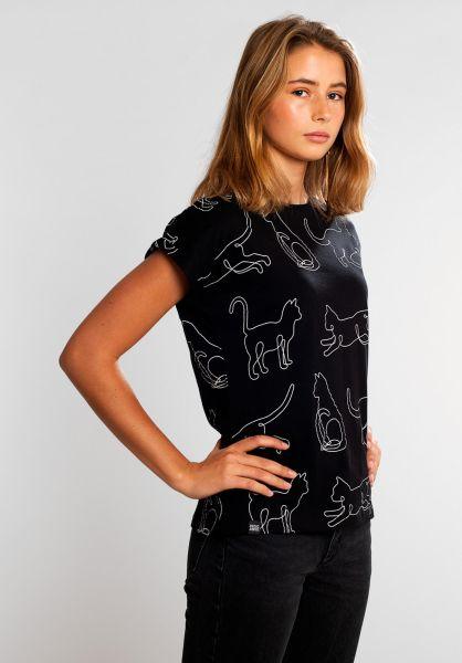 Dedicated T-Shirts Cat Lines black vorderansicht 0321060