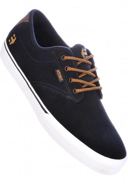 etnies Alle Schuhe Jameson Vulc navy-brown-white Vorderansicht