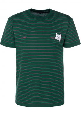 a89418799d0d Peeking Nermal Jacquard Knit Rip N Dip T-Shirts in huntergreen-pink for Men