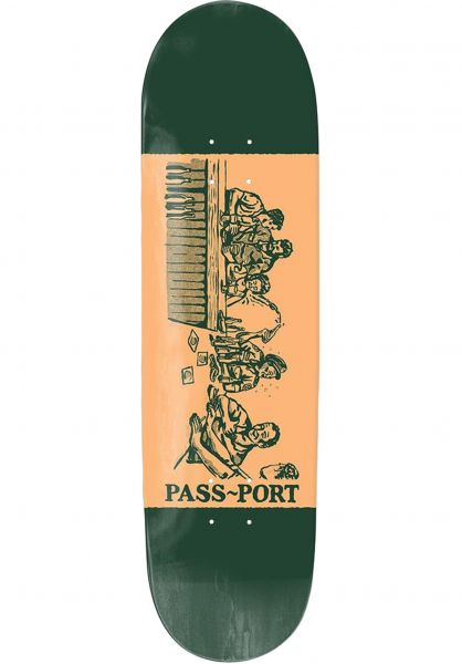 Passport Skateboards Skateboard Decks Night Shift Crack green vorderansicht 0260633
