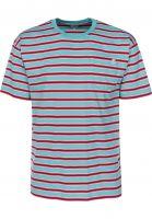 Polar Skate Co T-Shirts Striped Pocket mint-coral-red Vorderansicht