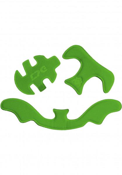 TSG Diverse Schoner Adult Helmet Pad Kit HS green Vorderansicht