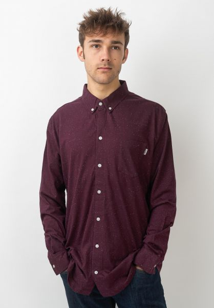 Wemoto Hemden langarm Shaw Nep burgundy vorderansicht 0411929