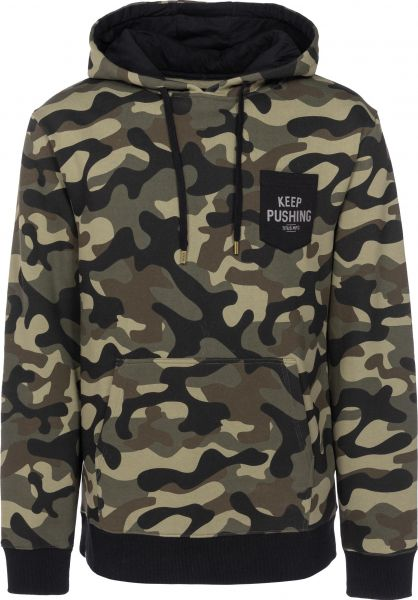 TITUS Hoodies Keep Pushing Pocket camouflage vorderansicht 0444281