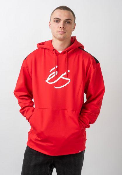 ES Hoodies Script Tech red vorderansicht 0445750