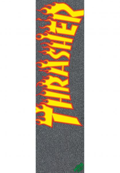 MOB-Griptape Griptape Thrasher Flame Logo black vorderansicht 0140611
