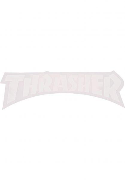 Thrasher Verschiedenes Die Cut Logo Sticker white Vorderansicht