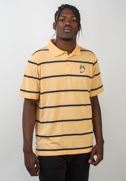 Nike SB Polo-Shirts Dry Polo Jersey celestialgold-obsidian vorderansicht 0138383