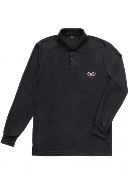Loser-Machine Longsleeves 2nd Place Polo black Vorderansicht