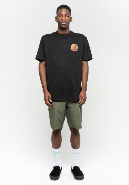 Santa-Cruz T-Shirts Classic Dot Chest black vorderansicht 0323245