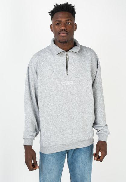 Goodbois Sweatshirts und Pullover Classic Trademark Half Zip Crewneck grey vorderansicht 0422904