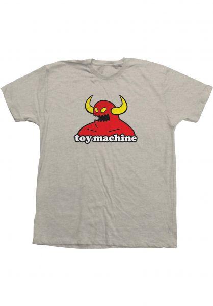 Toy-Machine T-Shirts Monster oatmeal-heather vorderansicht 0360310
