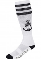 Rebel Rockers Socken Anchor white-black Vorderansicht
