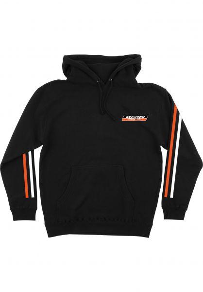 Bronson Speed Co. Hoodies Racing Stripes black Vorderansicht