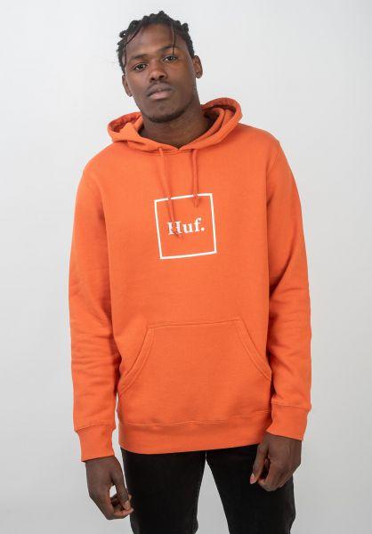HUF Hoodies Box Logo rust vorderansicht 0444753