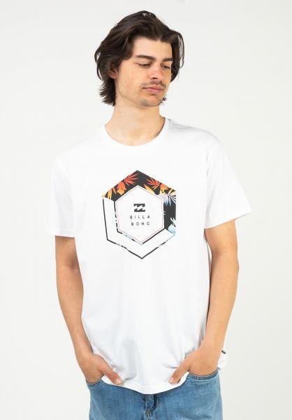 Billabong T-Shirts Access white-colored vorderansicht 0399906