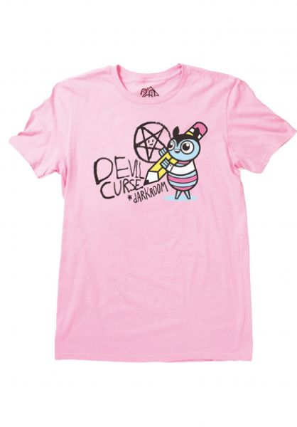 Darkroom T-Shirts Curse pink vorderansicht 0320466
