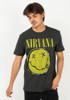 amplified-t-shirts-nirvana-worn-out-smiley-charcoal-vorderansicht-0322342