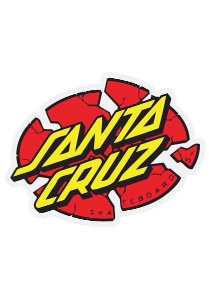"""Santa-Cruz Verschiedenes Broken Dot 4"""" Sticker red-yellow vorderansicht 0972172"""