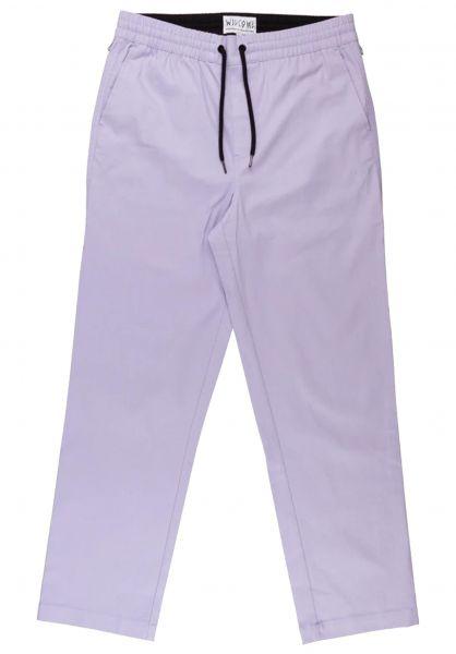 Welcome Chinos und Stoffhosen Principal Elastic Pant lavender vorderansicht 0204164