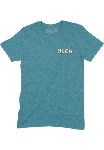 Meow Skateboards T-Shirts Bar Logo blue vorderansicht 0321053
