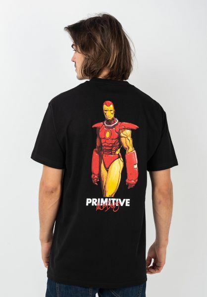 Primitive Skateboards T-Shirts x Marvel Iron Man black vorderansicht 0322240