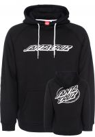 Santa-Cruz Hoodies Oval Dot black Vorderansicht