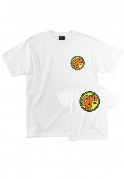 OJ Wheels T-Shirts Elites white Vorderansicht