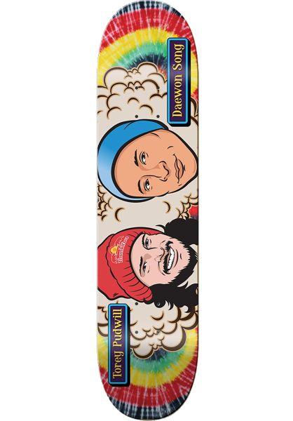 Thank You Skateboards Skateboard Decks Buddies tie-dye vorderansicht 0261683