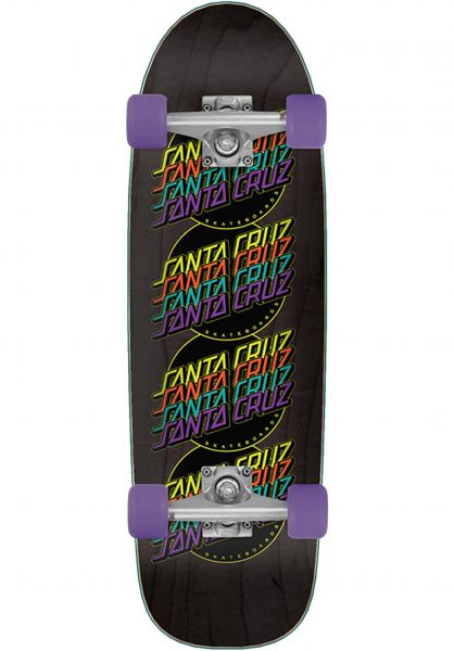 Santa-Cruz Cruiser komplett Multistrip multicolored vorderansicht 0252567