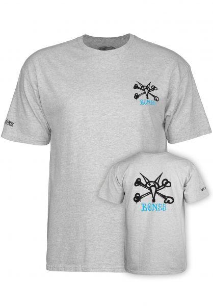 Powell-Peralta T-Shirts Rat Bones athletic-heather vorderansicht 0036206