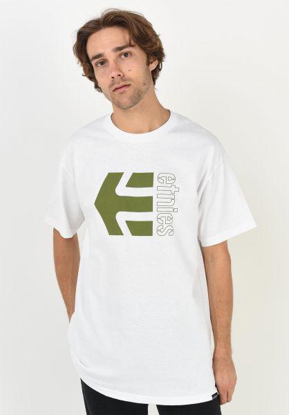 etnies T-Shirts Corp Combo white vorderansicht 0320613