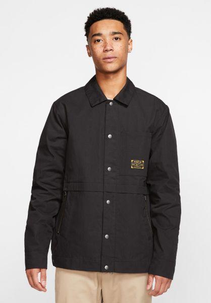 Nike SB Übergangsjacken Jacket Orange Label Leo Baker black-nightmaroon vorderansicht 0504537