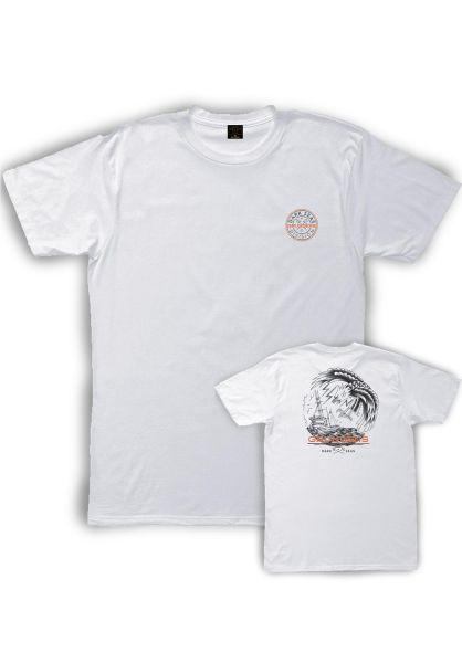 Dark Seas T-Shirts x Grundens Sea Strike white vorderansicht 0399037