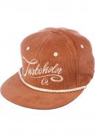 Turbokolor Caps Snapback brown-cord Vorderansicht