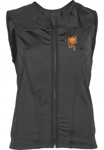 TSG Diverse Schoner Backbones Vest WMN D3O black-orange Vorderansicht