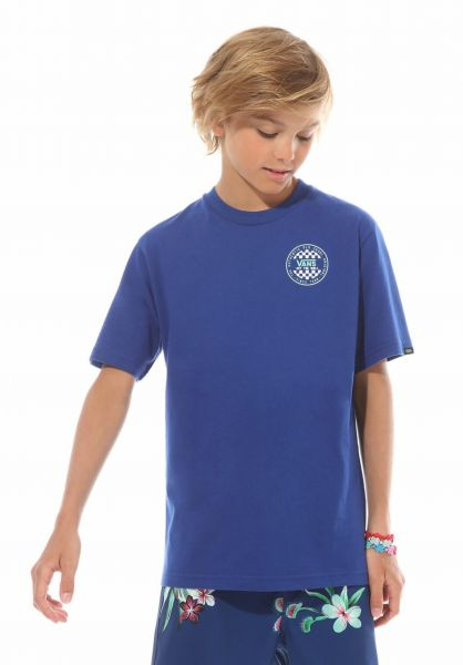 Vans T-Shirts OG Checker Kids solidateblue vorderansicht 0321652