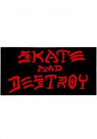 Thrasher-Verschiedenes-Skate-Destroy-Sticker-Large-black-Vorderansicht