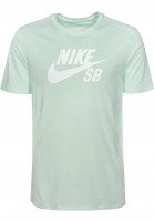 Nike SB T-Shirts DFT Icon Logo barelygreen-white Vorderansicht