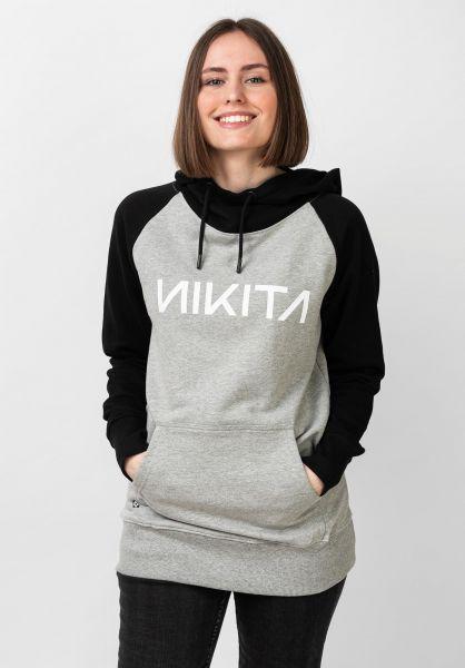 Nikita Hoodies Reykjavik Solid athleticheathergrey-black vorderansicht 0444683