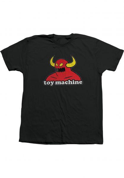 Toy-Machine T-Shirts Monster black vorderansicht 0360310