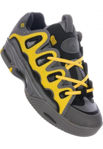 Osiris Alle Schuhe D3 2001 charcoal-yellow vorderansicht 0604118