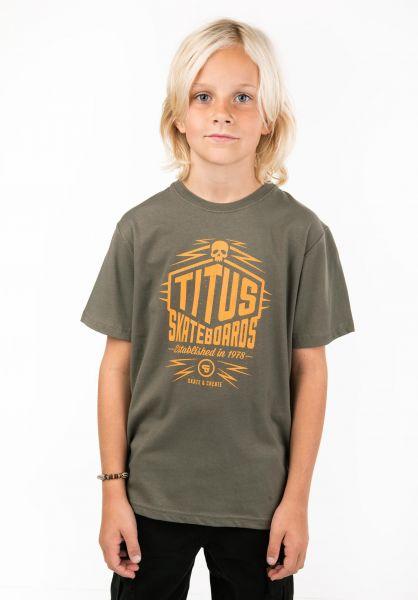 TITUS T-Shirts Skate & Create Kids olive vorderansicht 0397388