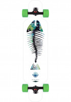 Long Island Longboards komplett Fish DT white-multi Vorderansicht