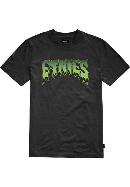 etnies T-Shirts Comics black vorderansicht 0320502