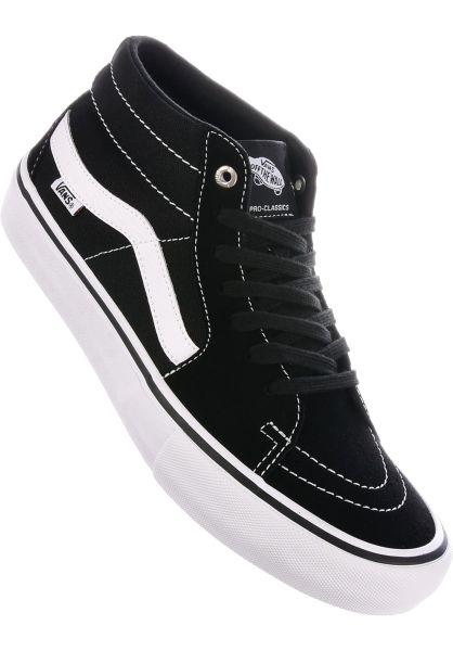 9e013cccfff6 Vans Alle Schuhe Sk8 Mid Pro black-white vorderansicht 0604390